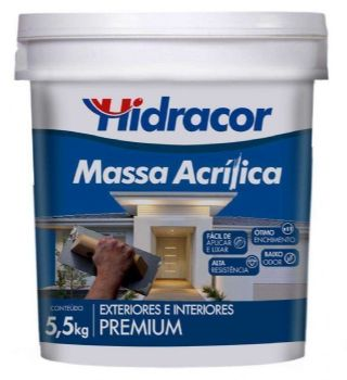 MASSA ACRÍLICA HIDRACOR 5,5KG