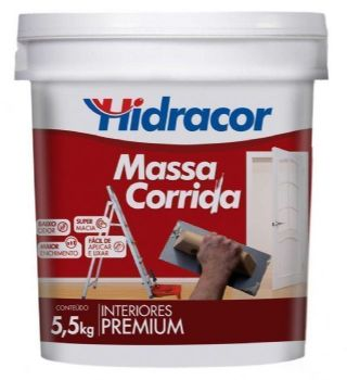 MASSA CORRIDA HIDRACOR 5,5KG