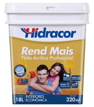 TINTA ACR�LICA FOSCO HIDRACOR REND MAIS 18L